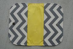 Grey Gray Chevron Diaper Clutch Diaper Holder by MickeysCreations