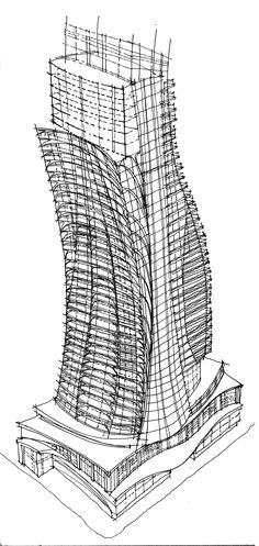 Architectural Drawings Of Skyscrapers skyscraper concept 6 | sketches [copyright] | pinterest