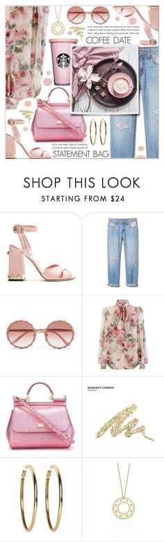 """COFFEE DATE"" by celine-diaz-1 ❤ liked on Polyvore featuring Dolce&Gabbana, Urban Decay, Kenneth Jay Lane, Myia Bonner and Deborah Lippmann"