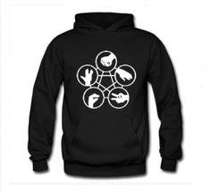 Big Bang Theory sweatshirt Rock Paper Scissors personalized hoodies for men