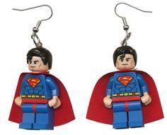 Superman earrings by cosmicfunpalace on Etsy
