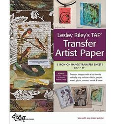 Lesley Riley's TAP Transfer Artist Paper Pack : 18 Iron-on Image Transfer Sheets 5 X 11 by Lesley Riley Merchandise, Other) for sale online Fabric Crafts, Sewing Crafts, Paper Crafts, Photo Transfer To Paper, Image Sheet, Quilt Making, Craft Projects, Tutorials
