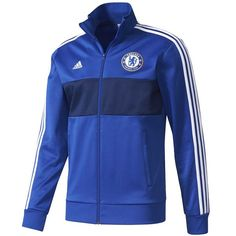 adidas Men's Chelsea 3 Stripes Track Jacket Chelsea Blue/White