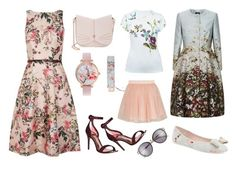 """Flowers in My Life"" by braincontortion ❤ liked on Polyvore featuring Ted Baker"