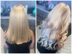 """Obsessed with this """"cool"""" transformation using Cliphair's Tape in extensions in shade Ice Blonde ❤️ shades available on our webiste. Tape In Hair Extensions, Clip In Hair Extensions, Ice Blonde, Hair Tape, Hair Transformation, Remy Human Hair, 50 Shades, Envy, Fifty Shades"""
