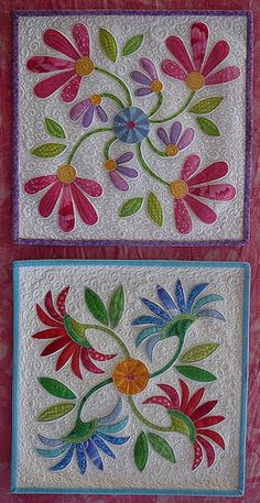 Patchy Work of Mini Grey: Flick Doll Quilt Swap Finished! Hand Applique, Applique Quilts, Embroidery Applique, Kashida Embroidery, Embroidery Tattoo, Embroidery Thread, Quilting Projects, Quilting Designs, Applique Designs