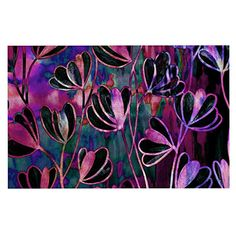 KESS InHouse Ebi Emporium 'Efflorescence-Mixed Berry' Pink Purple Dog Place Mat, 13' x 18' *** Can't believe it's available, see it now : Dog food container