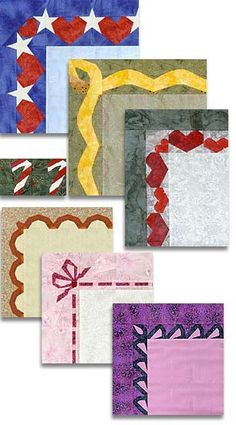 Seven Borders Paper-Pieced Quilt Pattern at paperpanache.com