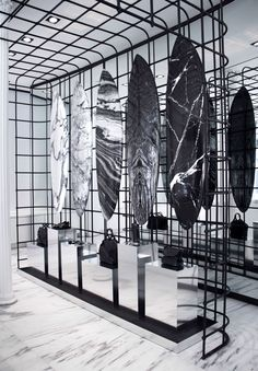 Surfing just got a whole lot more stylish! Alexander Wang has teamed up with Aussie surf brand Haydenshapes to create the most chic surfboards we've ever seen. Retail Interior Design, Retail Store Design, Interior Shop, Boutique Interior, Studio Interior, Retail Shop, Hayden Shapes, Alexander Wang, Beach House Style