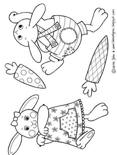 Garland with Easter bunnies for colouring and cutting out as PDF: a kit for children - Garland s velikonoční zajíček pro barvení a řezání ve formátu PDF: Easter Art, Easter Crafts For Kids, Easter Bunny, Diy For Kids, Josi, Easter Wreaths, Easter Garland, Cardboard Crafts, Coloring Pages