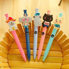 新款文具可爱动物圆珠笔 可爱卡通按动圆珠笔 学生礼物礼品批发