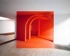 Anamorphic illusion (Rouen 2005 by Georges Rousse)