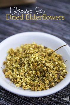 Uses for Dried Elderflowers | homemadeforelle.com