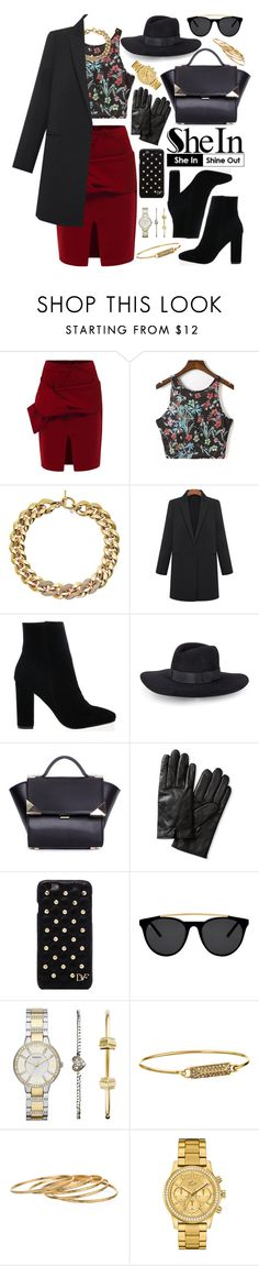 """Shein"" by oshint on Polyvore featuring Michael Kors, Rebecca Minkoff, Banana Republic, Diane Von Furstenberg, Smoke & Mirrors, FOSSIL, Satya, Lacoste, Sheinside and shein"