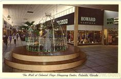 I'm hooked on images of old shopping malls. The Mall at Colonial Plaza Shopping Center, Orlando, Florida.