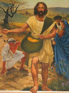 "The Parable of the Sower. BIBLE SCRIPTURE: Luke ""A sower went out to sow his seed: and as he sowed, some fell by the way side; and it was trodden down, and the fowls of the air devoured it. Bible Images, Bible Pictures, Life Of Christ, Jesus Christ, Savior, Lucas 8, Catholic Catechism, Parables Of Jesus, Bible Commentary"