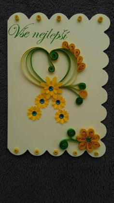 I takto se dá vyrobit přání (and thus can be produced cards ) Quilling, Washer Necklace, Canning, Frame, Cards, Jewelry, Home Decor, Bedspreads, Picture Frame
