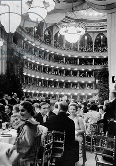 We just cataloged our image & it's a beauty: Society at the Vienna Opera Ball at the Vienna Staatsoper, 1936 (b/w photo)/ German Photographer / SZ Photo Fight For Freedom, Vienna Austria, Black And White Pictures, The Girl Who, Museum, Old World, Opera House, Beauty Society, In This Moment