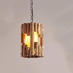 Suna Modern LED Chandelier Lighting Creative Solid Wood Restaurant Cafe Chandelier Retro Lighting [Energy Level A +] Ceiling Pendant, Chandelier Lighting, Ceiling Lights, Woods Restaurant, Retro Lighting, Energy Level, Free Delivery, Solid Wood, Amazon