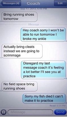To me this is only funny because even though l don't play soccer I hate running at practice