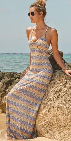 L Space 2014 Threads Sunchaser Maxi Dress ~ Beach Style 2014 - Style Estate - Summer Outfits, Cute Outfits, Summer Dresses, Maxi Dresses, Casual Dresses, Woman Dresses, Summer Maxi, Summer Sun, Summer 2014