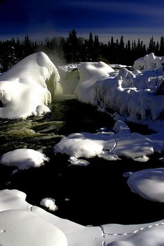 Pisew Falls, Northern Manitoba, Canada