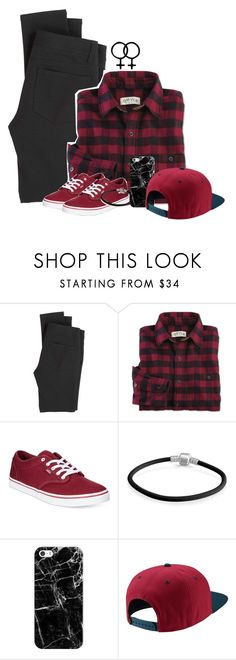 """""""Stereotype Lesbian outfit with a lesbian question-thing in the D!"""" by pxycho ❤ liked on Polyvore featuring Paige Denim, Vans, Bling Jewelry, Casetify and NIKE"""