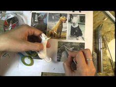 modelagem de cachorro em biscuit parte final - YouTube