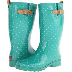 Chooka Classic Dot Rain Boot Women's Rain Boots, Olive (46 CAD) ❤ liked on Polyvore featuring shoes, boots, mid-calf boots, olive, olive green rain boots, faux boots, pull on boots, rubber boots and slip on boots