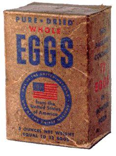 Pure whole dried eggs USA WW2