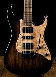 Suhr Standard Custom Black Limba Electric Guitar - Black Burst #ElectricGuitar #beautifulguitars