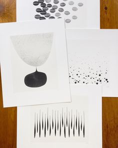 Move from Summer to Fall with Black and White Prints - Household Art