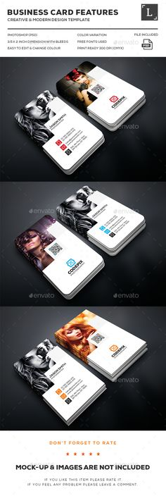 Photography Business Cards — Photoshop PSD #graphic #red • Available here → https://graphicriver.net/item/photography-business-cards/16215335?ref=pxcr