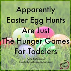 easter egg hunts are the hunger games