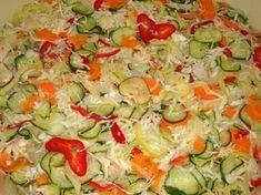 Csalamádé recept II. My Recipes, Salad Recipes, Cooking Recipes, Favorite Recipes, Croatian Recipes, Hungarian Recipes, Cold Vegetable Salads, Gyro Pita, No Bake Cake