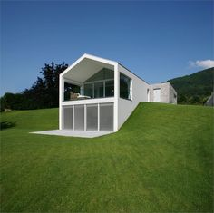 White Projection House---from a Green Hillside---terrific!