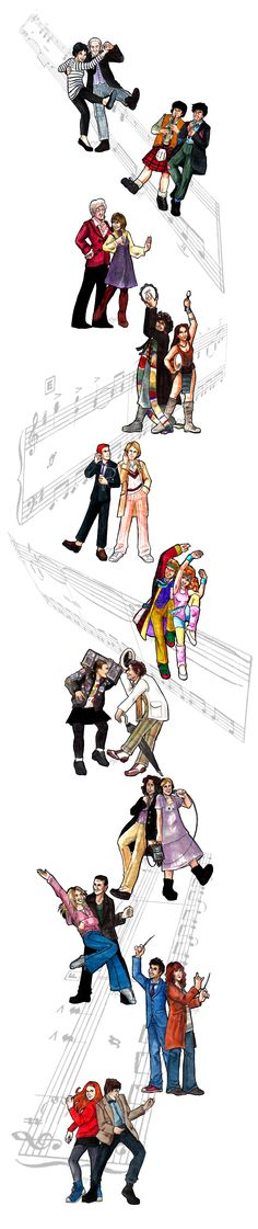 Music of Time by ladyyatexel.deviantart.com on @deviantART | Love how Eleven just does air-guitar. XD