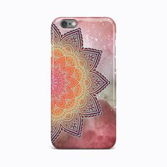 Red Mandala Flower Hard Case Cover Apple iPhone 4 4S 5 5S 5c SE 6 6S 7 Plus #Apple
