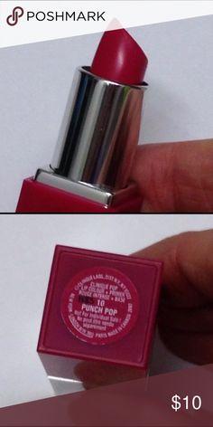 Clinique punch pop lipstick Clinique Punch Pop deluxe size swatched once Clinique Makeup Lipstick