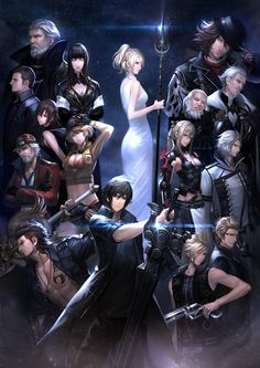Final Fantasy XV noctis ignis prompto gladio lunafreya and the other character Noctis Final Fantasy, Final Fantasy Artwork, Final Fantasy Vii Remake, Fantasy Series, Fantasy World, Final Fantasy Xv Wallpapers, Noctis And Luna, Manga, Final Fantasy Collection