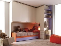 Habitación para jóvenes con armario puente 204 B | Habitación - Doimo CityLine