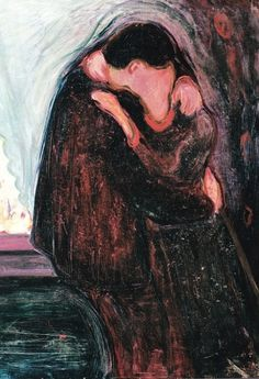 The Kiss' painting by Edvard Munch. Vintage wall art for sale Edvard Munch, Kiss Painting, The Kiss, Figurative Kunst, Kunst Poster, Gustav Klimt, Claude Monet, Art Plastique, Love Art