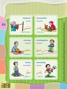 Baca Online Kamus Pintar Bergambar 3 Bahasa adalah buku kamus bergambar full warna dalam 3 bahasa: Indonesia, Inggris, dan Arab untuk anak. Baca Online, Arabic Verbs, Hijrah Islam, Indonesian Language, Arabic Lessons, English Sentences, English Language Learning, Arabic Language, Learning Arabic