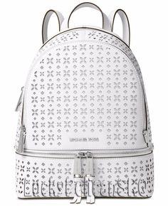 0f5e2d42d35dbd Michael Kors Rhea Zip Medium Backpack Bag Saffiano White NWT #MichaelKors  #BackpackStyle Michael Kors