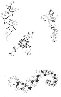 sketches of stars and hearts | Star designs by ~crazyeyedbuffalo on deviantART