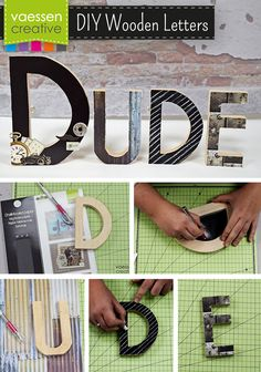 Make your own home deco with sturdy wooden letters. Choose a name or motto and decorate the wooden letters with scrapbooking paper, stickers, magnets and chalk from #KaiserCraft and Vaessen Creative. Creating your own #woodenletters gets really fun this way!