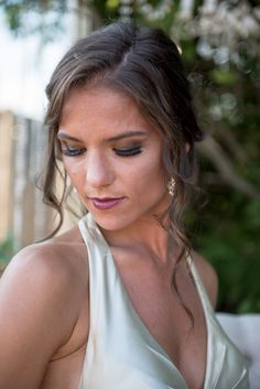 Stunning makeup for the bride to be! Light lip with a bold eyes! #boldeyes #lightlip #eyespop #powerstationevents #eleganteventssalon #weddings