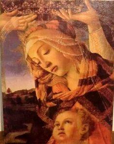 Boticelli La Madone, du Magnificat (dètail ) n 2 1481 Madonna, Galerie Des Offices, Sainte Rita, Renaissance, Vinci, La Madone, Les Religions, Reproduction, Les Oeuvres
