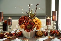 Fall Floral Centrepiece