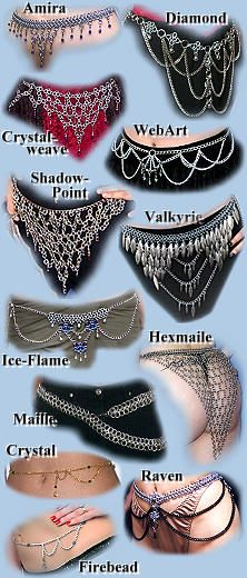 Waist & Belly Chains and Chain-mail Belts - see what I mean about this page being awesome?